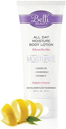 Belli All Day Moisture Body Lotion – Relieves Dry Skin – OB/GYN and Dermatologist Recommended – 6.5 oz.