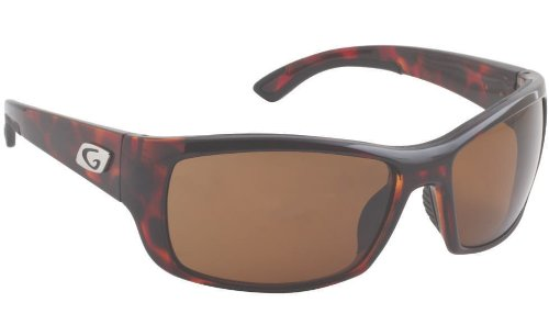 Guideline Eyegear Keel Sunglass, Shiny Tortoise Frame, Freestone Brown Polarized Lens, - Sunglasses Guidelines