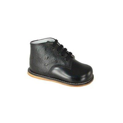 Josmo Baby Unisex Walking First Walker Shoe  Black Ostrich  6 5 Medium Us Infant