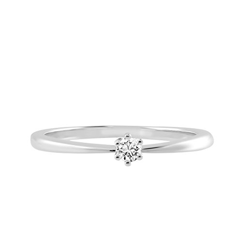 Diamond Line - Bague - Or blanc - Diamant - T54 - 117702