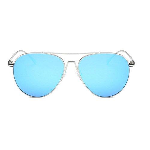 soleil lentille polarisées Protection avec Largeur la de 60 GAOLIXIA Métal Lunettes Homme Blue UV étui Aviator 400 de mm 6HxFEqw45