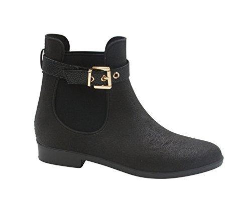 Jubé Moderne Aubree Womens Cheville Haute Bottes De Pluie Noir