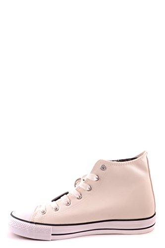 Daniele Alessandrini Hi Top Sneakers Uomo MCBI086051O Pelle Bianco