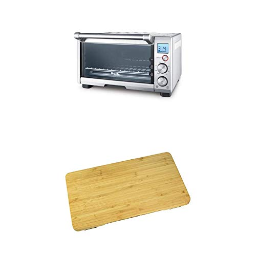 BREVILLE the Compact Smart Oven, Countertop Electric Toaster Oven BOV650XL with Breville BOV650CB Bamboo Cutting Board for use with BOV650XL Compact Smart Oven (Breville Bov650xl The Compact Smart Oven Stainless Steel)