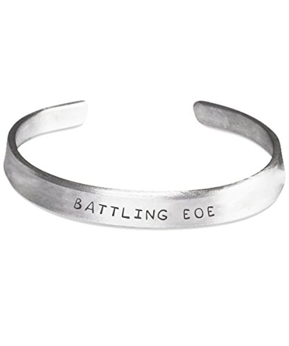Eosinophilic Esophagitis Awareness Bracelet - Battling EOE - Stamped Bracelets