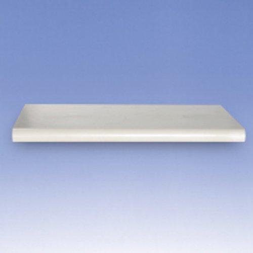 Case of 4 New White Plastic Bullnose Shelf 48 in. W x 13 in. D