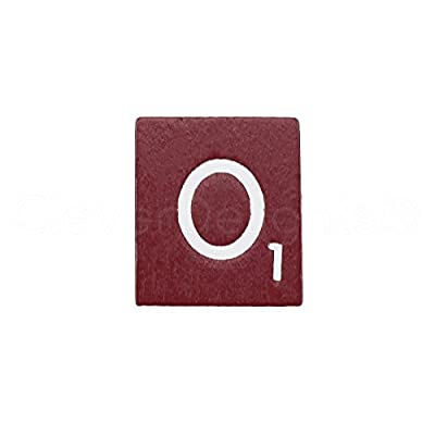 CleverDelights 100 Wood Letter Tiles - Maroon Color - Complete Set - Game Replacement Crafts Weddings Scrapbooking: Toys & Games