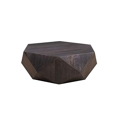 Hawthorne Collections Prism Noir Contemporary Geometric Coffee Table