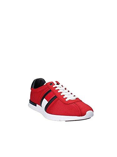 Basse Uomo bianco Scarpe Hilfiger blu Ginnastica Lightweight Tommy Retro Sneaker Rosso da xW8Unvv0a