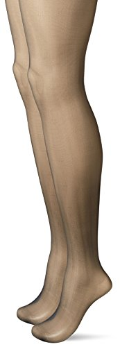 - Calvin Klein Women's Perfect Essentials Sheer Control Top Pantyhose 2 Pair Pack, black, B