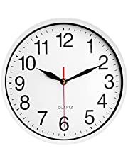 Outdoor Garden Wall Clock with Glass Cover, Waterproof and Sunscreen Outdoor Wall Clock, Indoor Outdoor Decoration, 23x23cm(9x9in)