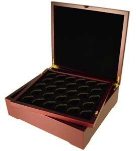 Four Tray Coin Display Box for Capsule, Certified, Slab-Style or Challenge Coins, No Trays