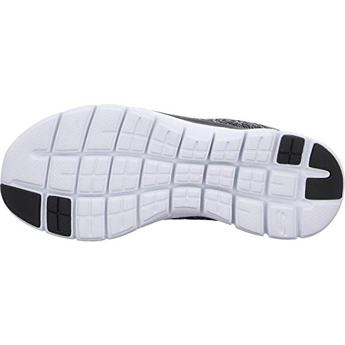 Skechers Women's Flex Appeal 2.0 Fashion Sneaker, Black/White Multi, 10 M US