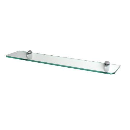 """Review Floating Glass Shelf with Rounded Clips - 24""""x5"""" (Clear) (24"""" By Dolle by Dolle"""