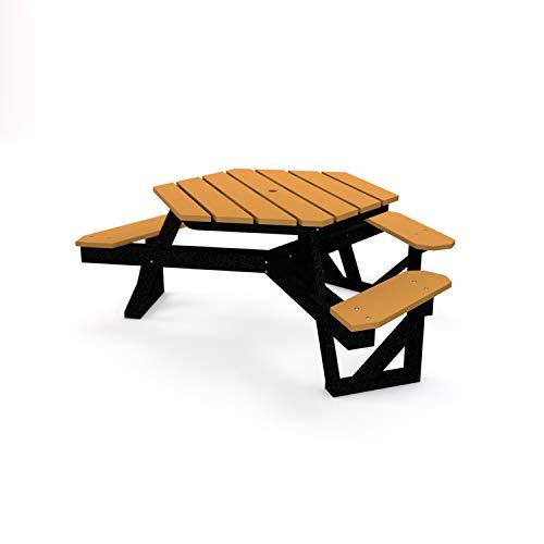 Frog Furnishings PB 6HEXADACED HEX ADA Picnic Table, 6′, Cedar