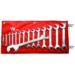 "V-8 Tool 14 Piece Angle Head Wrench Set 3/8"" - 1-1/4"" - V8T214"