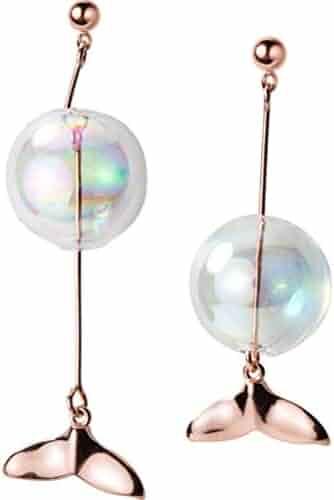 Liobaba Sun Moon Earrings Earrings Femininity Asymmetric Earrings Sun Stud Earrings