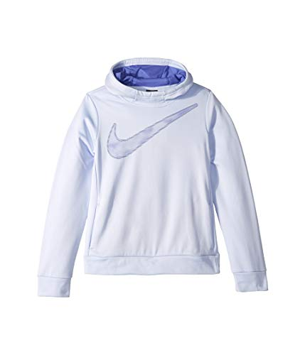 Nike Girls Swoosh Thermal Hoodie Pullover Lilac Purple