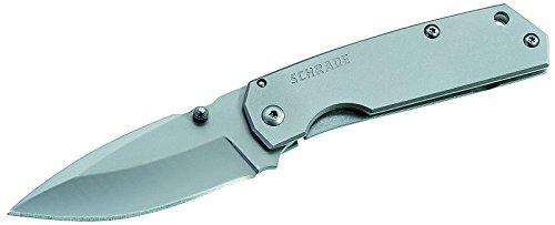 Free Schrade SCH303M Mini Frame Lock Folding Knife Drop Point Blade Steel Handle