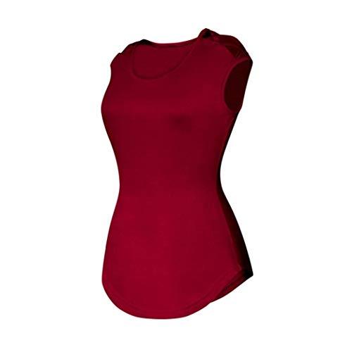 Shirts Mince Femme Creux Col Rouge Courtes lgant Casual Mode Moulants Tunique Mode Et Slim Haut Manches Unicolore Jeune Blouse Tops Fit Rond Tshirt qCxwvpqg