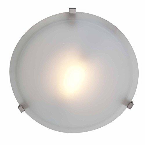 "Cirrus - 1-Light 16"" Flush Mount - Satin Finish - Frosted Glass Shade"
