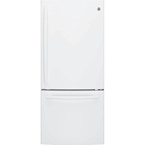 (GE White Bottom Freezer)