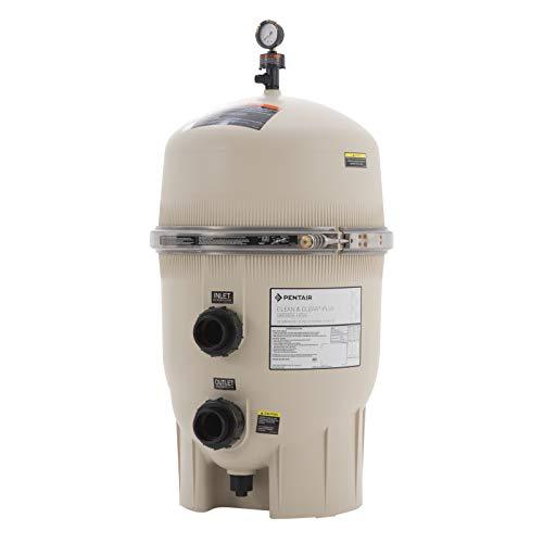 Pentair 160332 Clean & Clear Plus Fiberglass Reinforced Polypropylene Tank Cartridge Pool Filter, 520 Square Feet, 150 GPM (Residential)