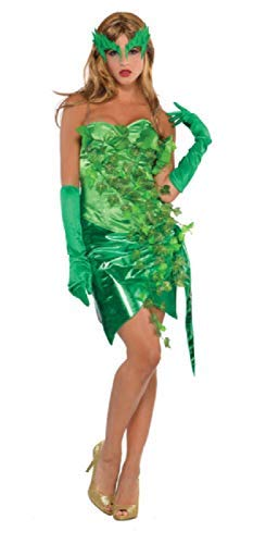 Ladies Sexy Green Forest Imp Toxic Ivy Fairy Halloween Carnival TV Book Film Fancy Dress Costume Outfit UK 8-16 EU 36-44 (UK 8-10 EU 36-38) ()
