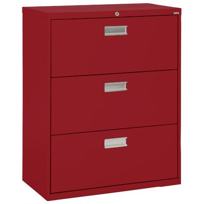 Sandusky Lee LF6A363-01 600 Series 3 Drawer Lateral File Cabinet, 19.25