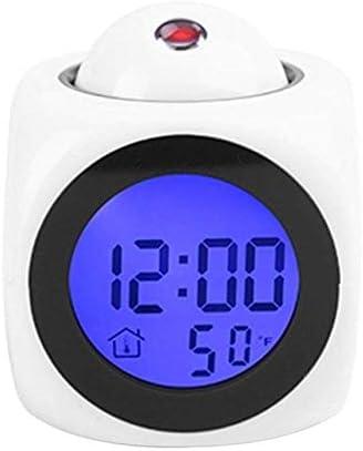 Alarm Clock, Lcd Projection Voice Talking Alarm Clock Backli