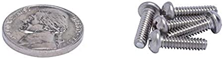 18-8 #6-32 X 1 Stainless Phillips Round Head Machine Screw, 304 Stainless Steel by Bolt Dropper Coarse Thread 100pc