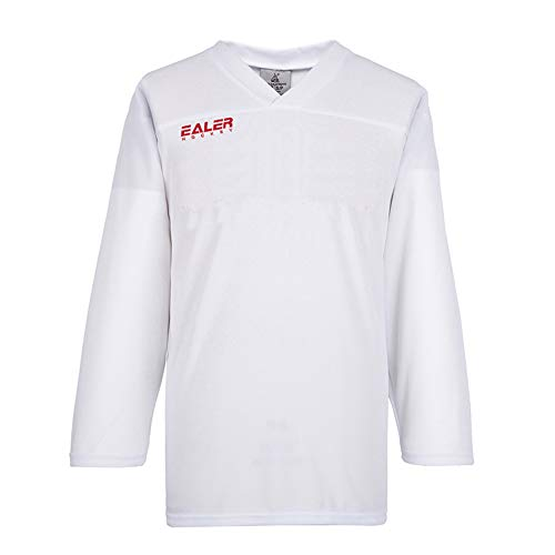EALER Adult Youth Hockey Practice Jersey - Senior to Junior (White, Youth L/XL)