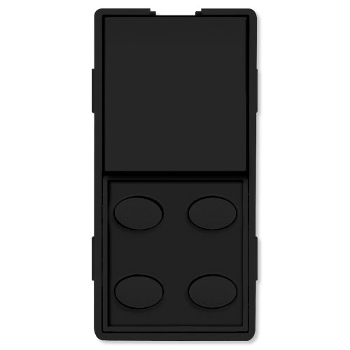 5O-BK Single-Rocker with Oval 4-Button Faceplate, Black ()
