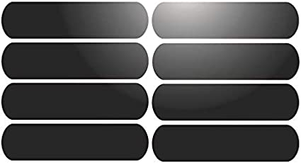 Blanc R/éfl/échissant 8 Bandes adh/ésives r/éfl/échissantes pour signalisation sur casque 8x2 cm