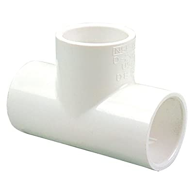 NIBCO 401 Series PVC Pipe Fitting, Tee, Schedule 40, Slip