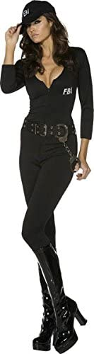SmiffyS 31448M Disfraz Fever De Chica Del Fbi Con Body Cinturón Y ...
