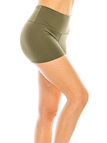CNC STYLE BOAP Women's Regular/Plus Soild Stretch Mini Dance Yoga Workout Underskirt Pant Cotton Booty Shorts Leggings Underwear,Black,Small, Black, X-Large, Red, Small, Green, Small