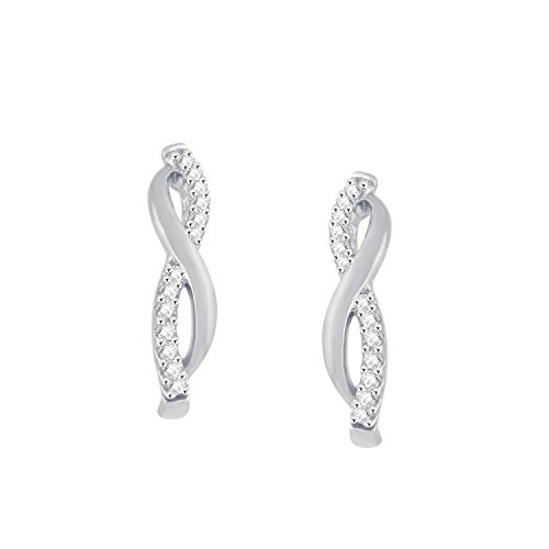 Giantti 14 carats Diamant pour femme Dangler Boucles d'oreilles (0.154 CT, VS/Si-clarity, Gh-colour)