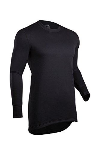 (ColdPruf Men's Journey Performance Base Layer Long Sleeve Crew Neck Top, Black, X-Large)