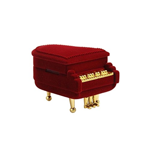 Box Piano - OULII Piano Ring Box Earring Storage Box Case Jewellery Gift Box Holder Jewelry Gift Case