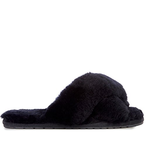 Womens Australia Sheepskin Black EMU Slipper Slippers Mayberry pZ5T6q