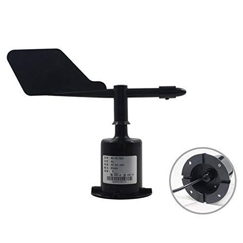 Sensor de Velocidad del Viento de la estación meteorológica, transmisor de Velocidad del Viento del velocímetro del Pulso de la Salida del azimut del 360 ...