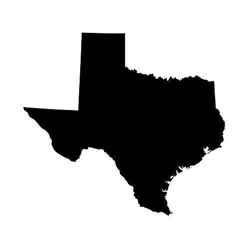 (Texas Lone Star State Longhorn Pride Decal Sticker - Black 5