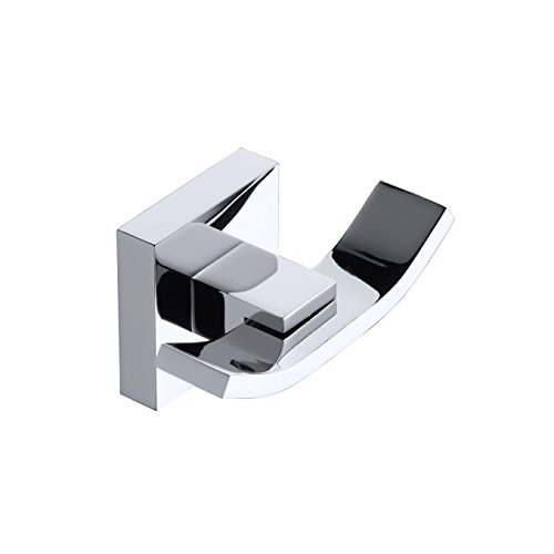 Double Towel/Robe Hook Polished Chrome, Wall Mounted, Beelee -