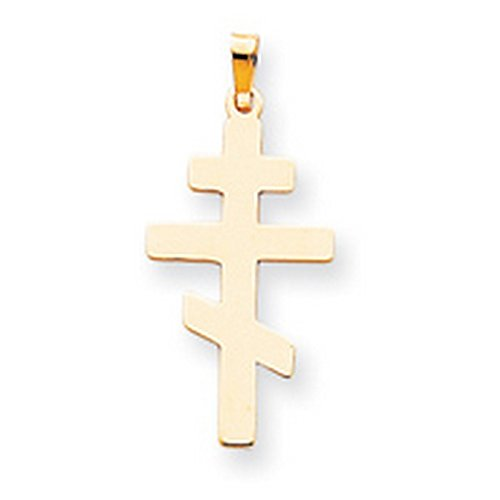 Icecarats Créatrice De Bijoux 14K Orientale De Charme Croix Orthodoxe