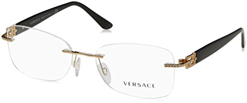 Versace Women's VE1225B Eyeglasses Gold - Designer For Glasses Prescription Frames