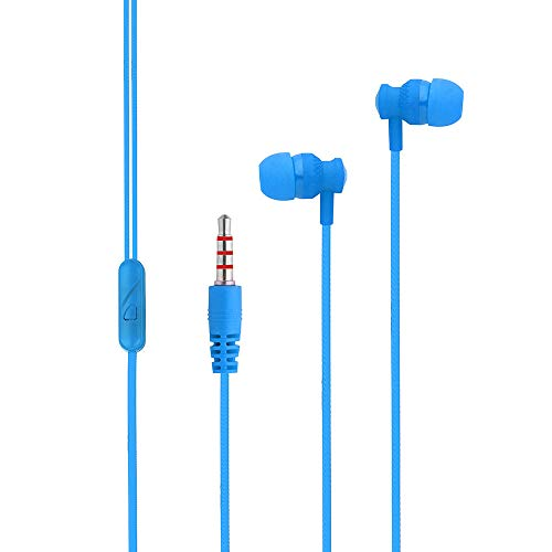Stereo Headset,Sacow Universal in-Ear 3.5mm Earbud Earphone Headset with Mic for Cell Phone PC (Blue)