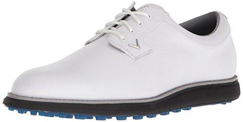 Callaway Mens Swami 2.0 Golf Shoe, White/Blue, 12 M