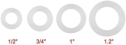 Size : Size 3 12Pcs Flat Gaskets O-Ring Silicone Oring Sealing Assortment Washers for Bellows Hoses Sealing Grommet 4 Sizes White Best Price