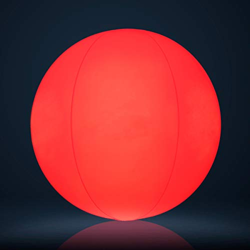 - SHINYBALL Beach Ball LED Light Waterproof Glow 3 Colors - Night Outdoor Activity, Beach Pool Camping Decoration Lamp for Children Kids
